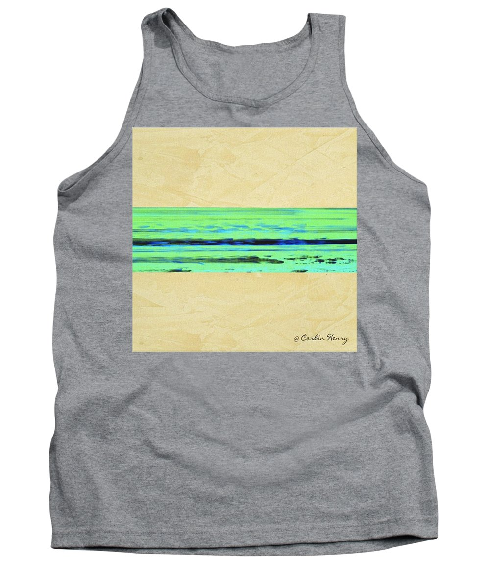 Beach Tank Top featuring the mixed media Abstract Beach Landscape by Corbin Henry