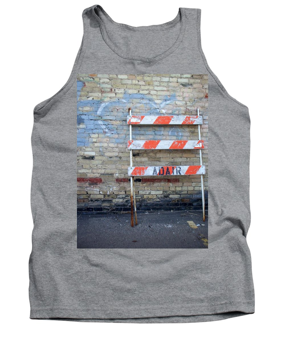 Industrial Tank Top featuring the photograph Abstract Brick 1 by Anita Burgermeister