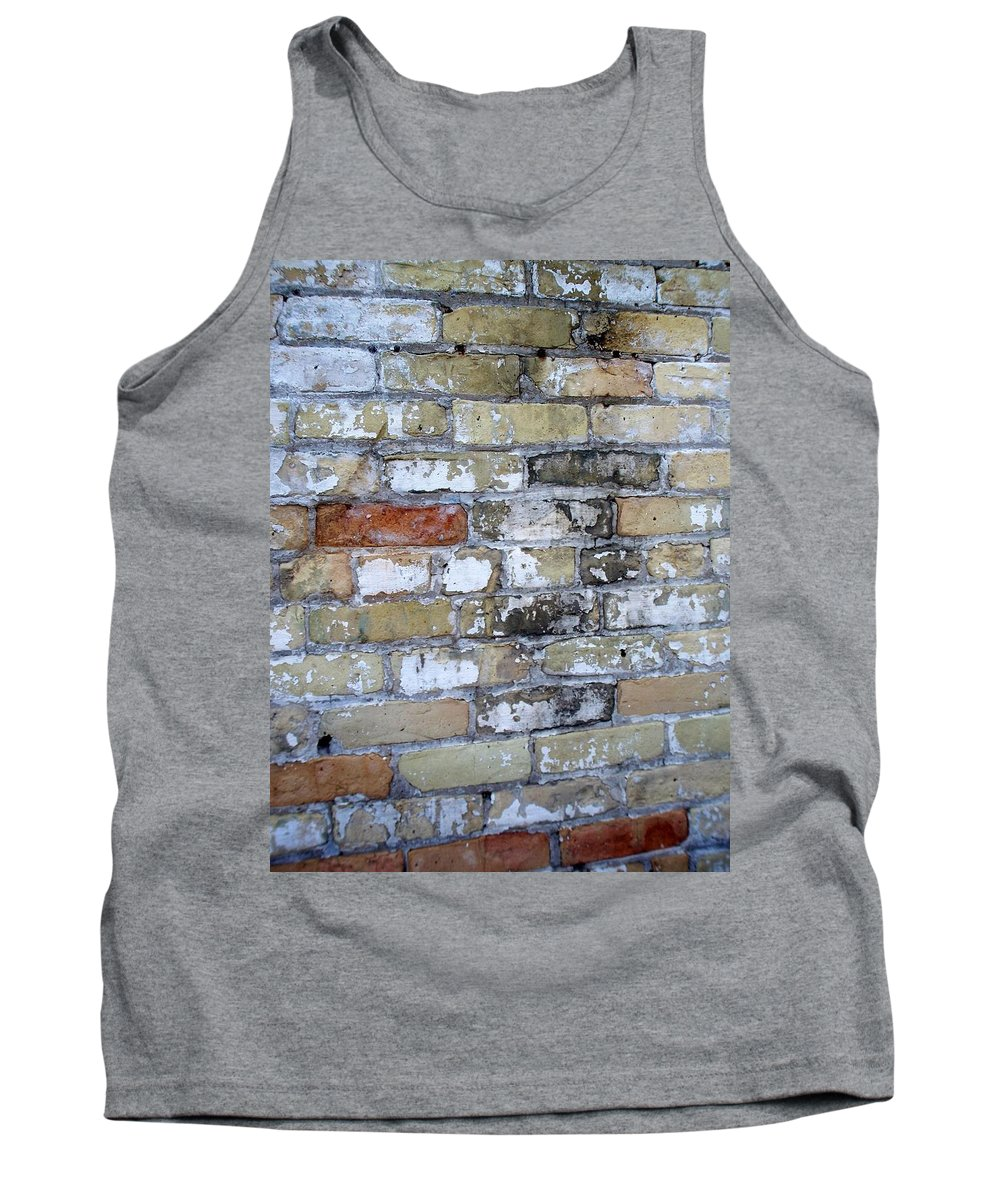 Industrial Tank Top featuring the photograph Abstract Brick 10 by Anita Burgermeister