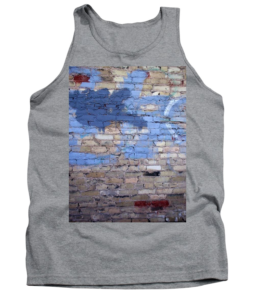 Industrial Tank Top featuring the photograph Abstract Brick 3 by Anita Burgermeister