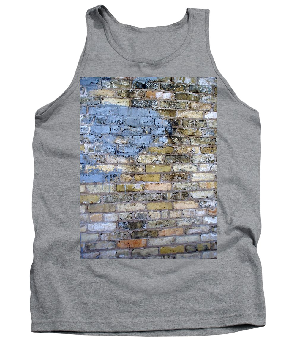 Industrial Tank Top featuring the photograph Abstract Brick 6 by Anita Burgermeister