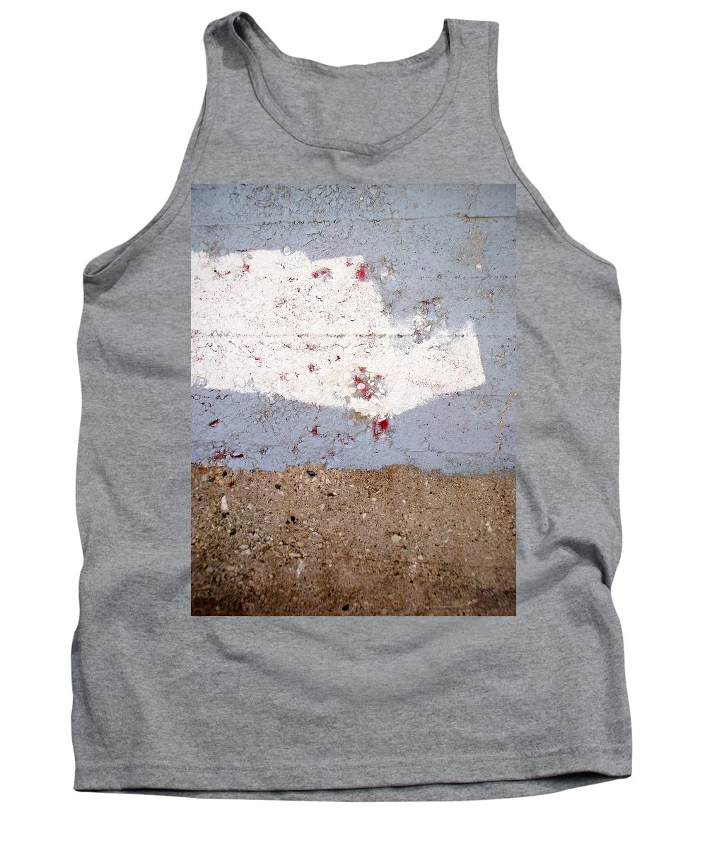 Industrial. Urban Tank Top featuring the photograph Abstract Concrete 13 by Anita Burgermeister