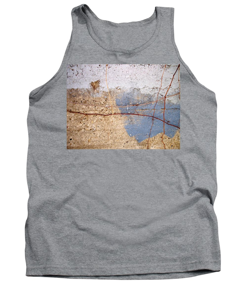 Industrial. Urban Tank Top featuring the photograph Abstract Concrete 15 by Anita Burgermeister