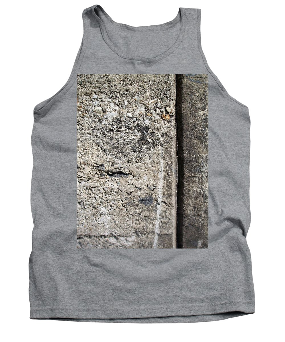 Industrial. Urban Tank Top featuring the photograph Abstract Concrete 16 by Anita Burgermeister