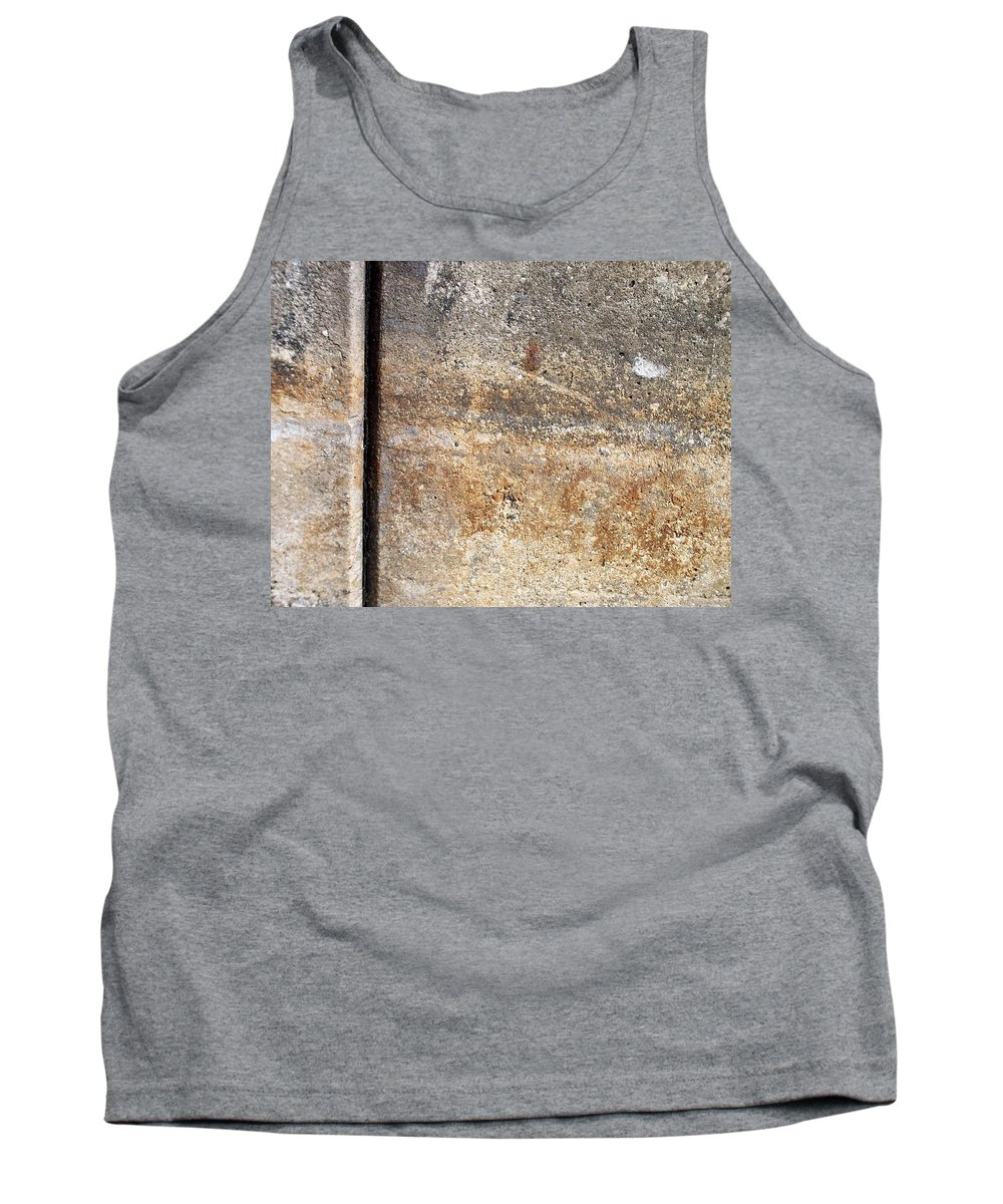 Industrial. Urban Tank Top featuring the photograph Abstract Concrete 17 by Anita Burgermeister