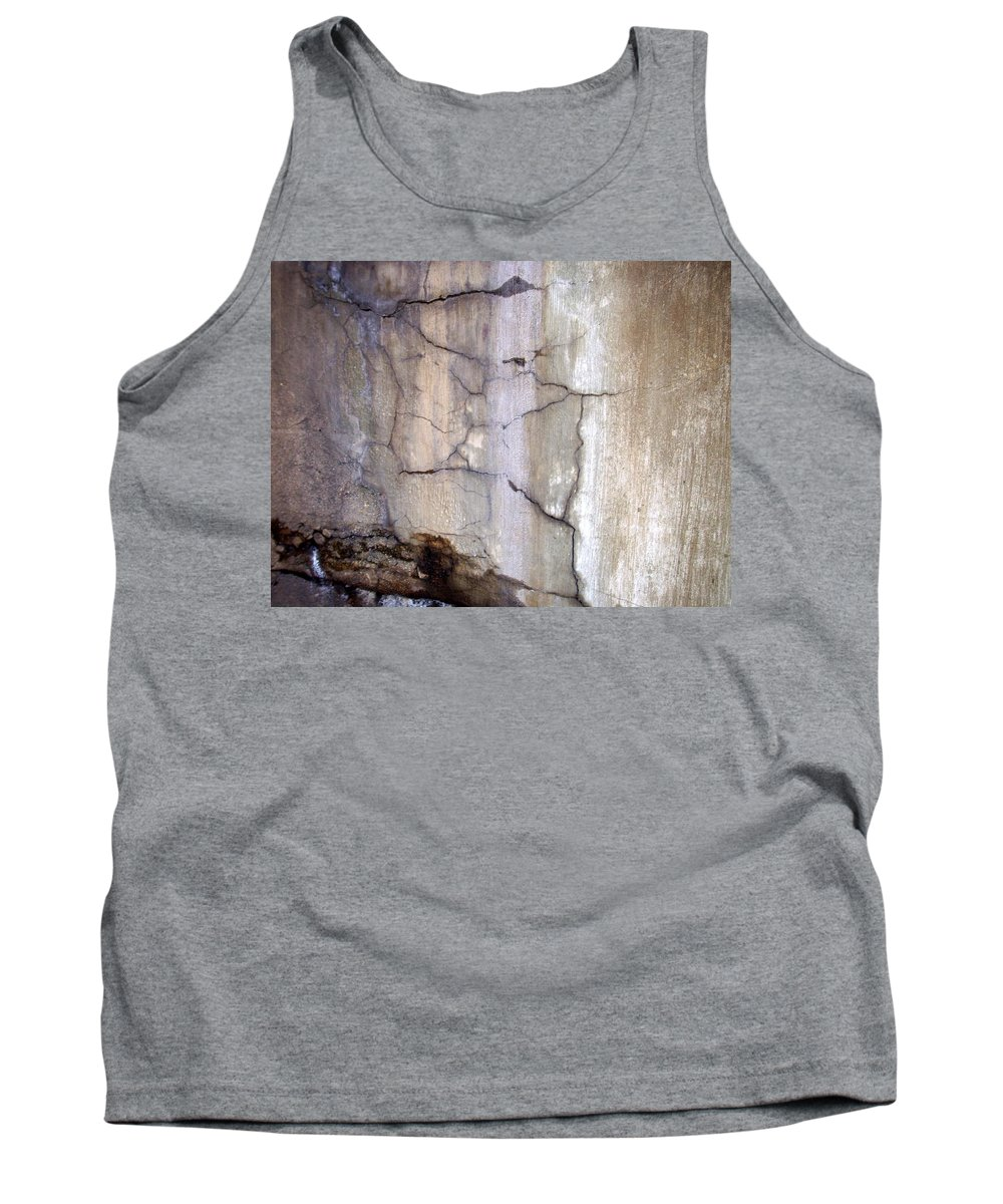 Industrial. Urban Tank Top featuring the photograph Abstract Concrete 2 by Anita Burgermeister