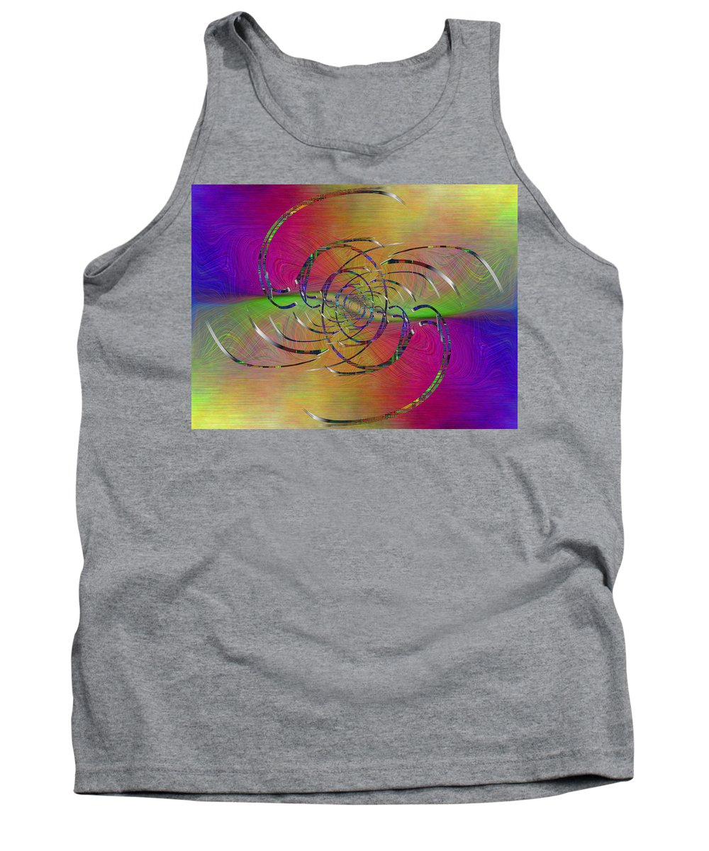 Abstract Tank Top featuring the digital art Abstract Cubed 317 by Tim Allen
