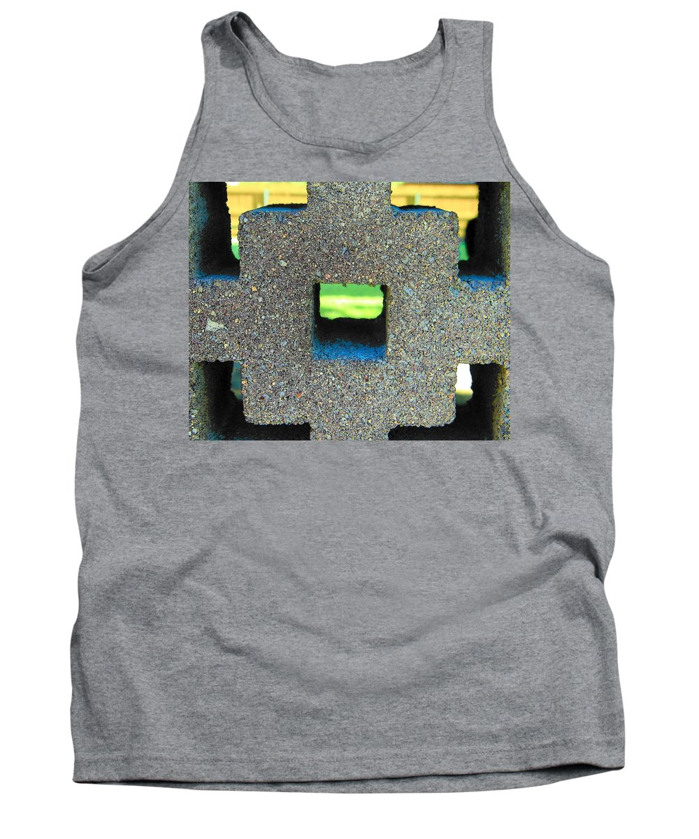 Abstract Tank Top featuring the photograph Abstract Face In Concrete by Lenore Senior