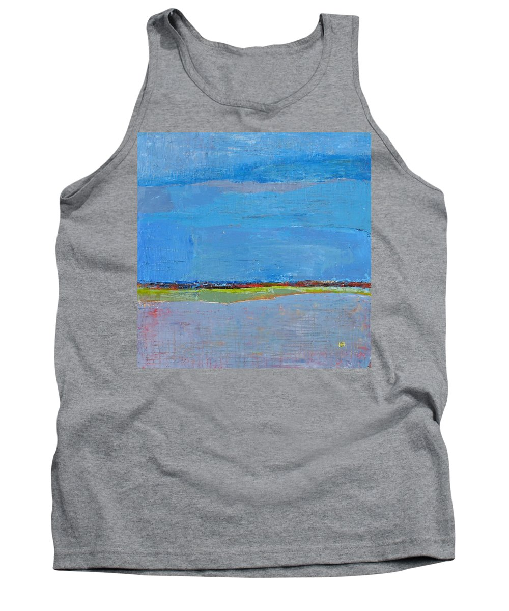 Tank Top featuring the painting Abstract Landscape1 by Habib Ayat