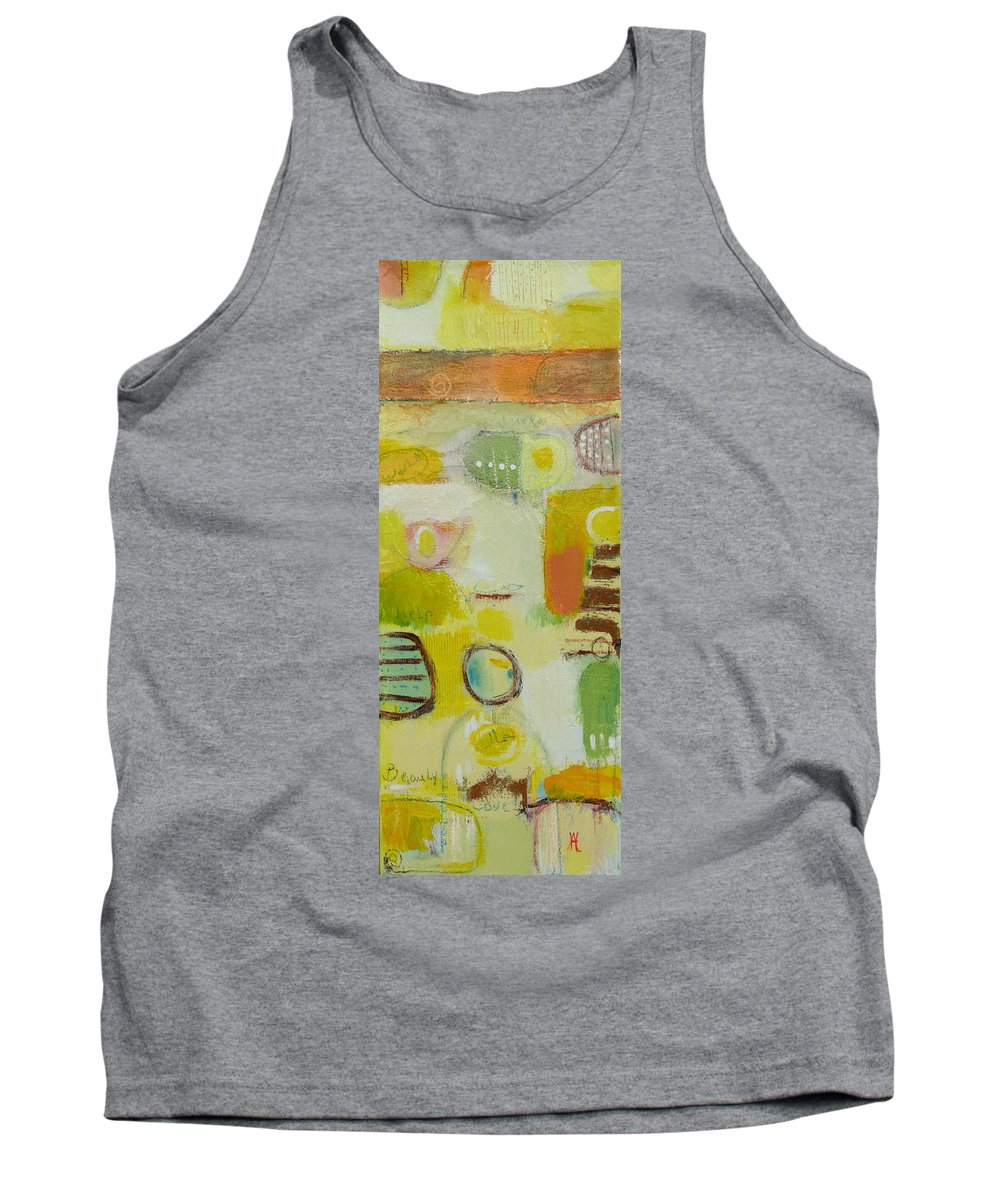 Tank Top featuring the painting Abstract Life 2 by Habib Ayat
