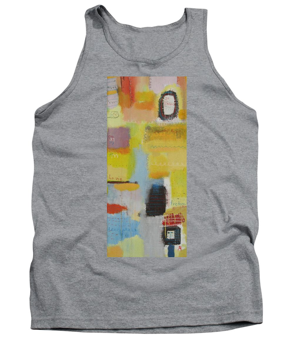 Abstract Tank Top featuring the painting Abstract Life 3 by Habib Ayat