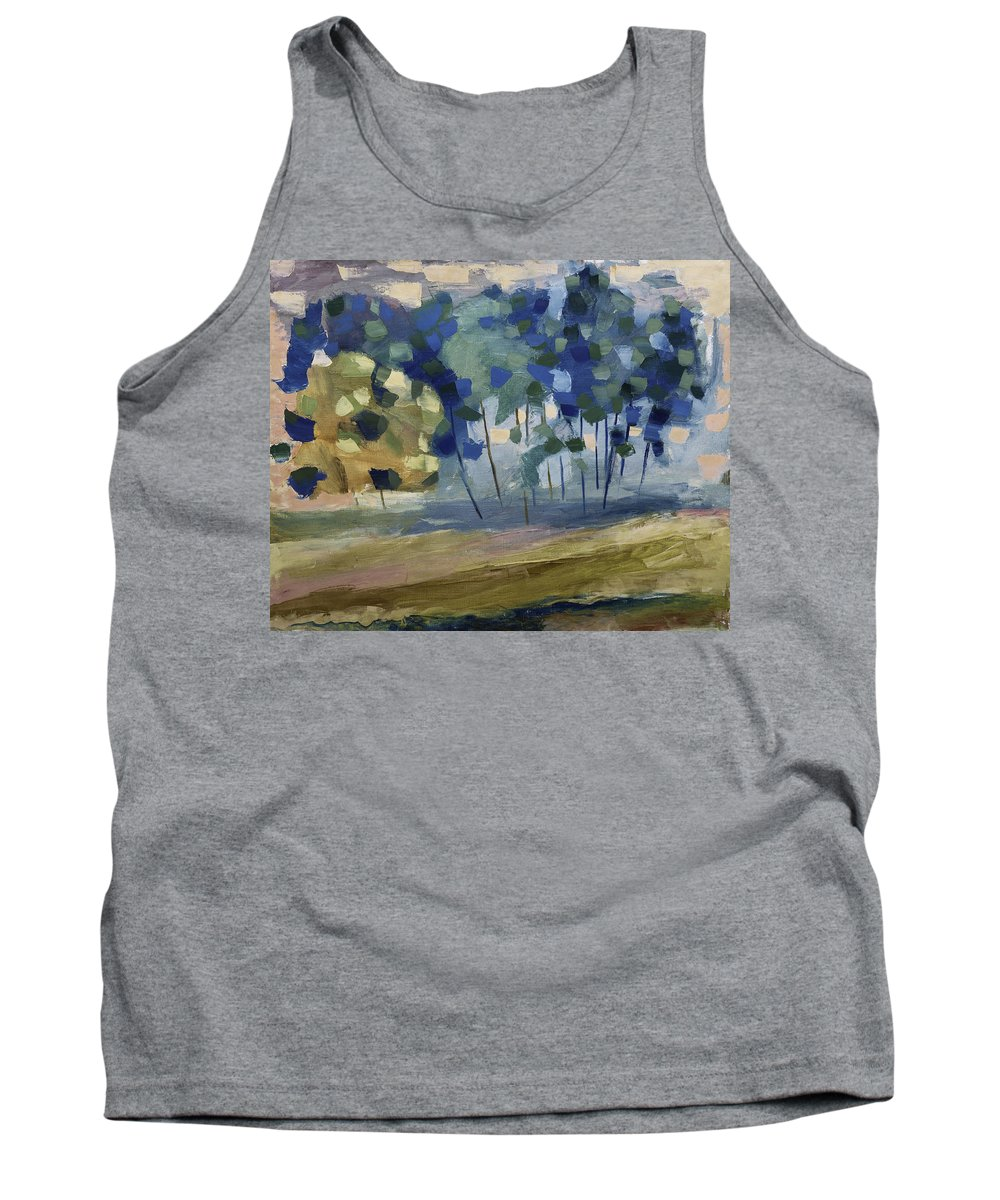 Snow Tank Top featuring the painting Abstract, Spring by Alexander Fuza