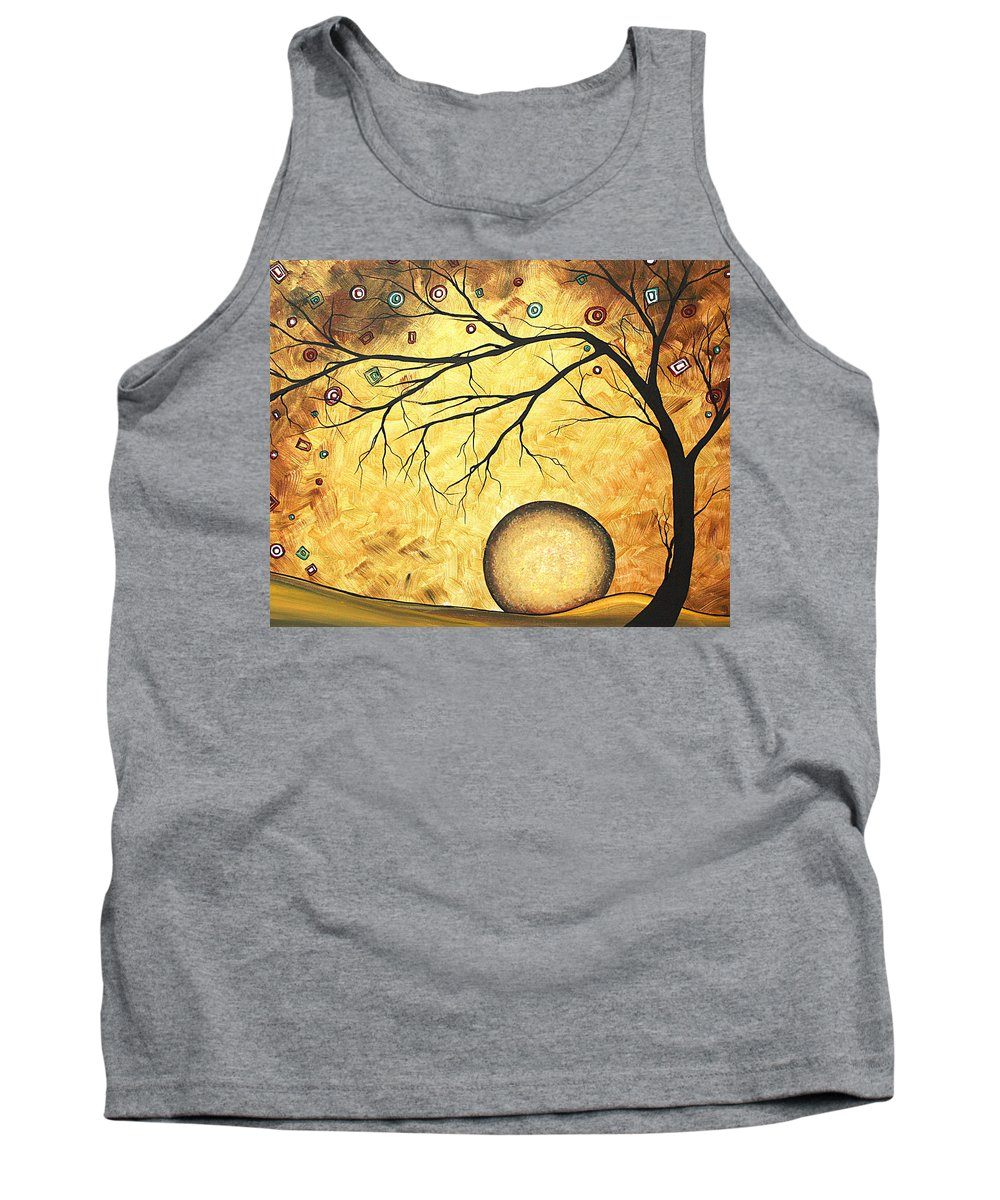 Art Tank Top featuring the painting Across The Golden River By Madart by Megan Duncanson