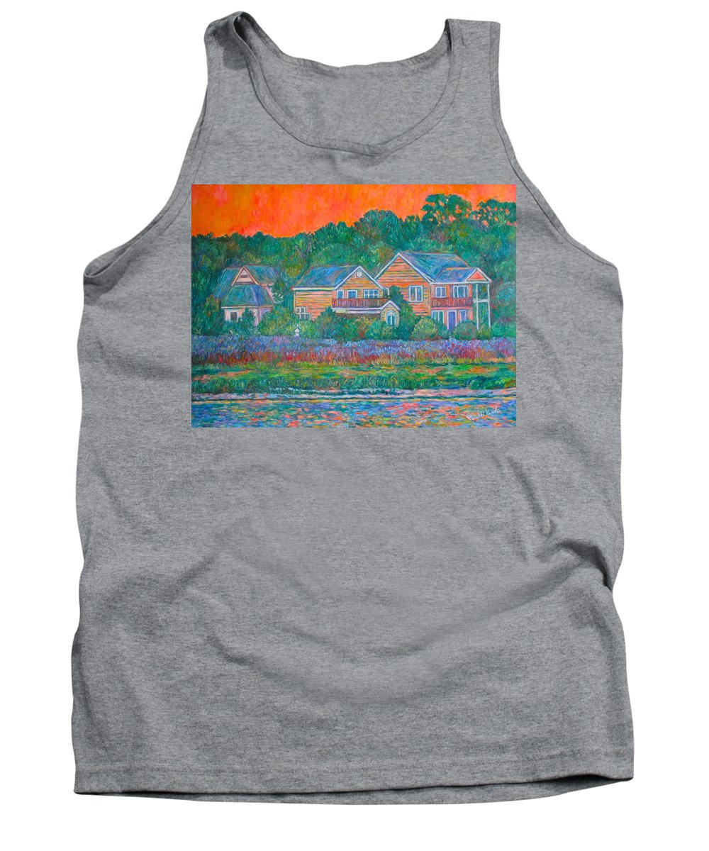 Landscape Tank Top featuring the painting Across The Marsh At Pawleys Island    by Kendall Kessler
