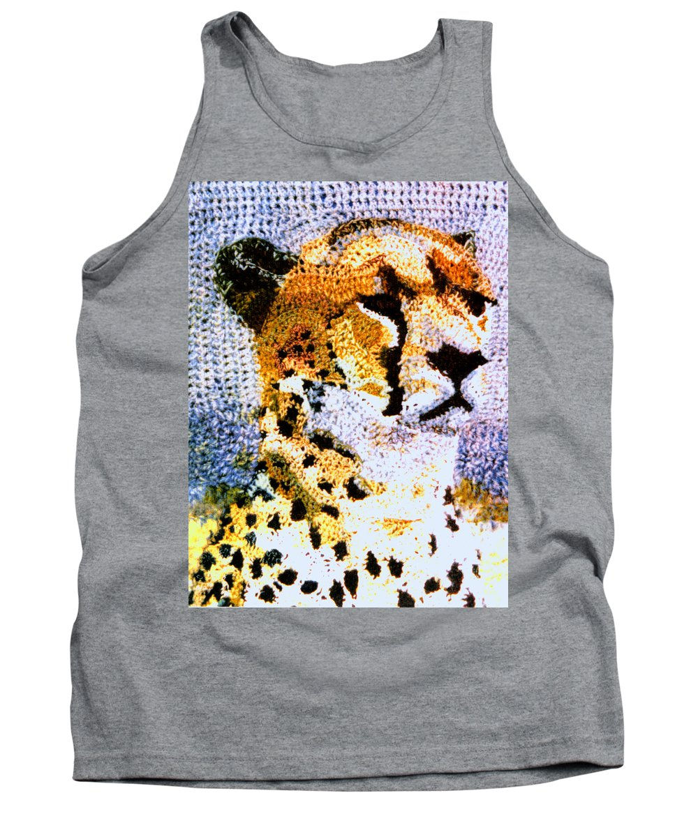 African Cheetah Tank Top featuring the tapestry - textile African Cheetah by Paul Lee