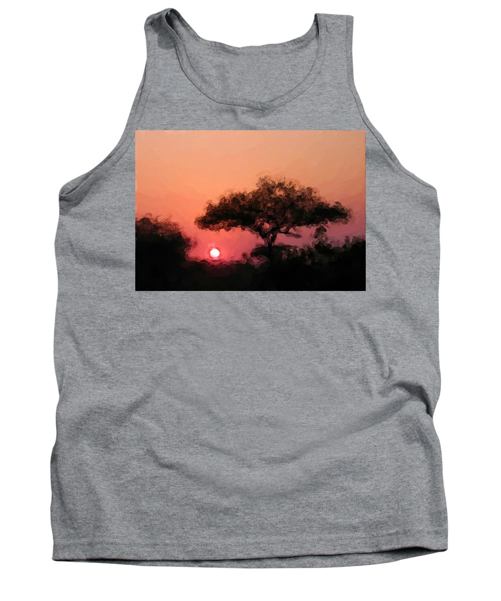 Digital Photography Tank Top featuring the photograph African Sunset by David Lane