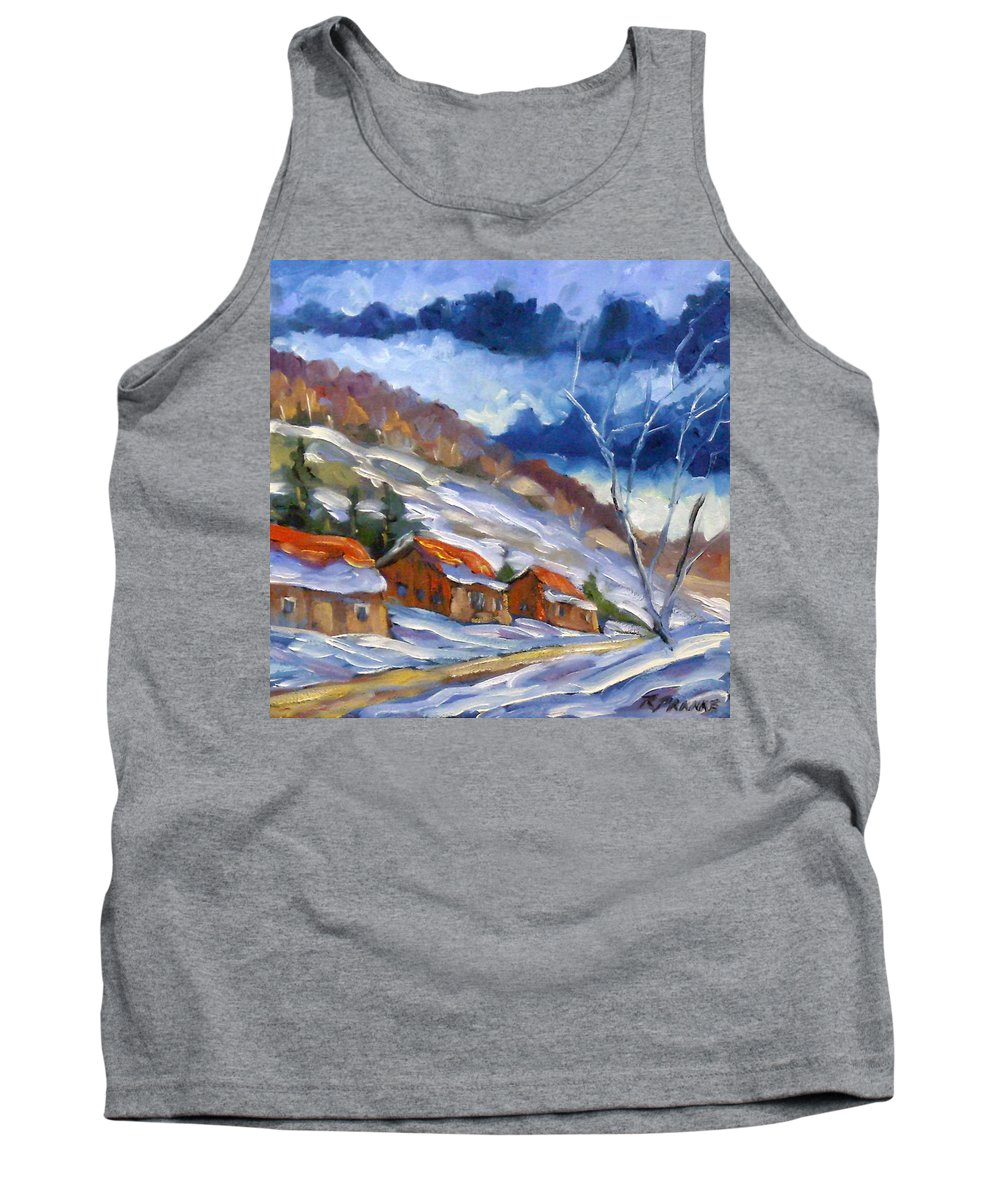 Art Tank Top featuring the painting After The Storm by Richard T Pranke