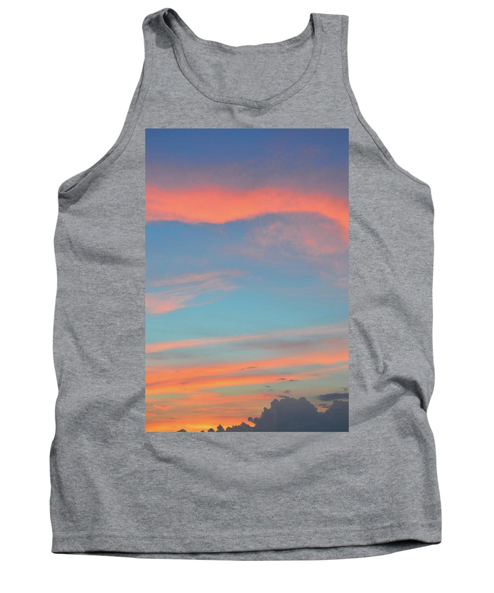 Abstract. Sunset Tank Top featuring the photograph After The Sun Set by Lyle Crump