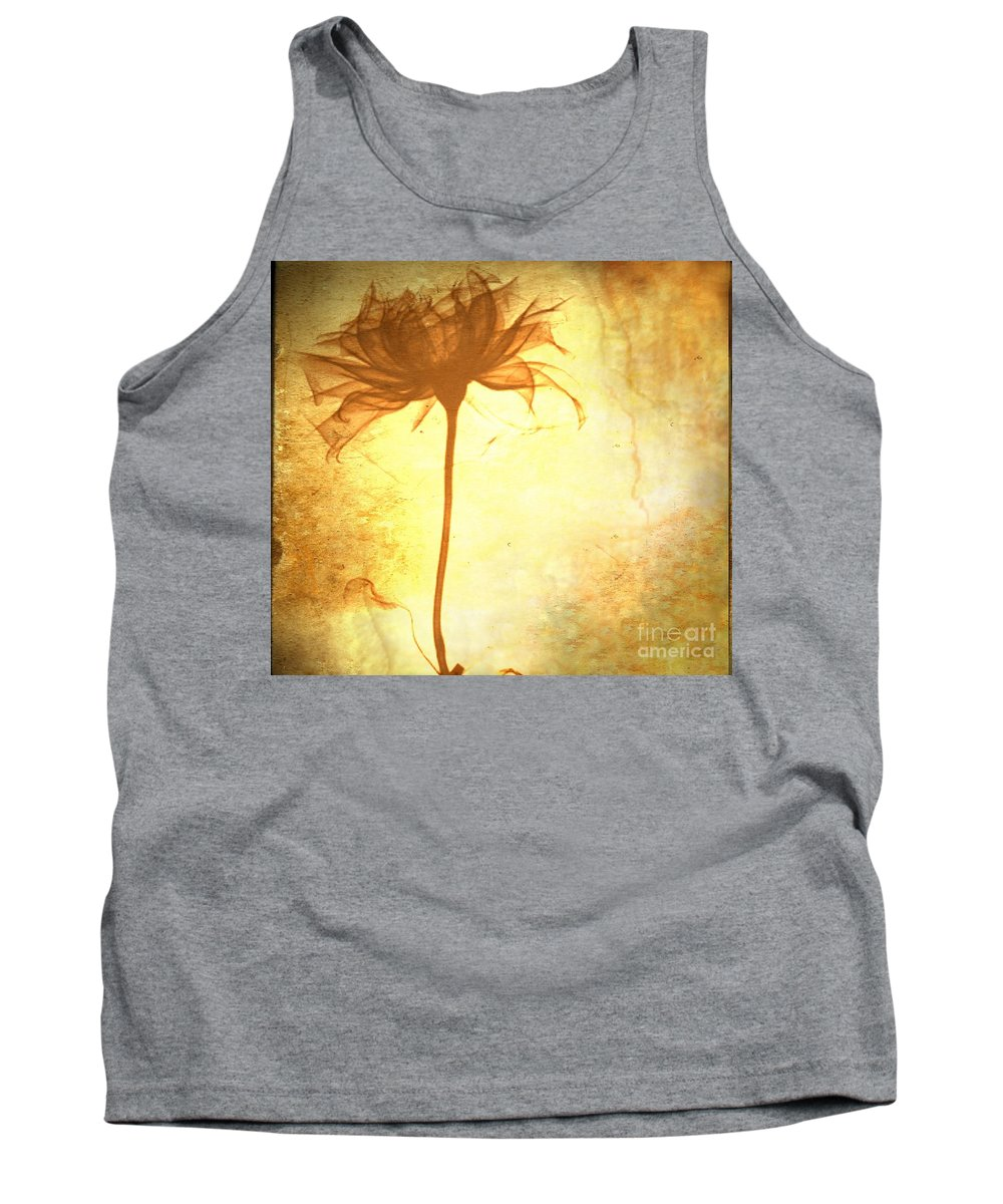 Flower Tank Top featuring the painting Against All Odds by Jacky Gerritsen