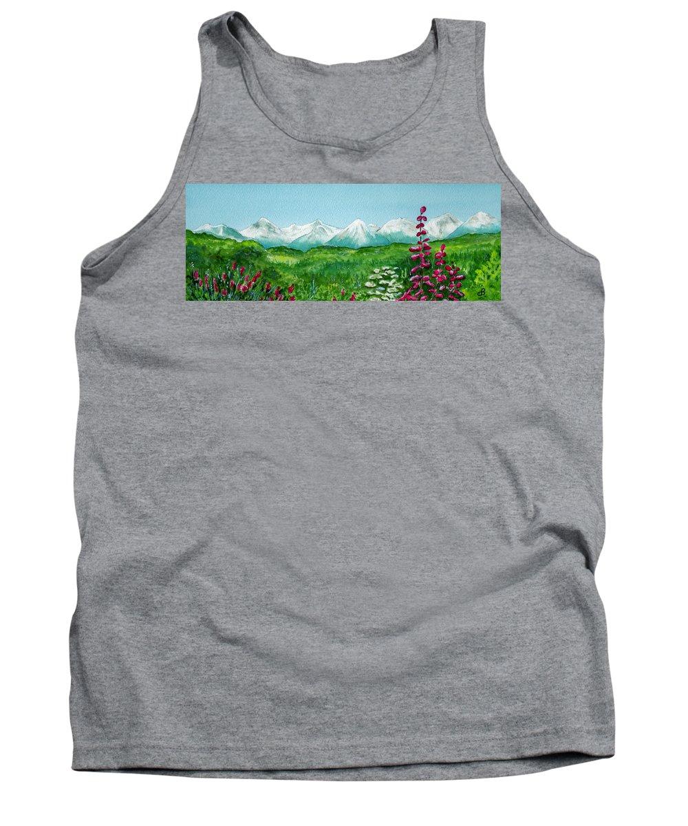Landscape Tank Top featuring the painting Alaska Splendor by Brenda Owen