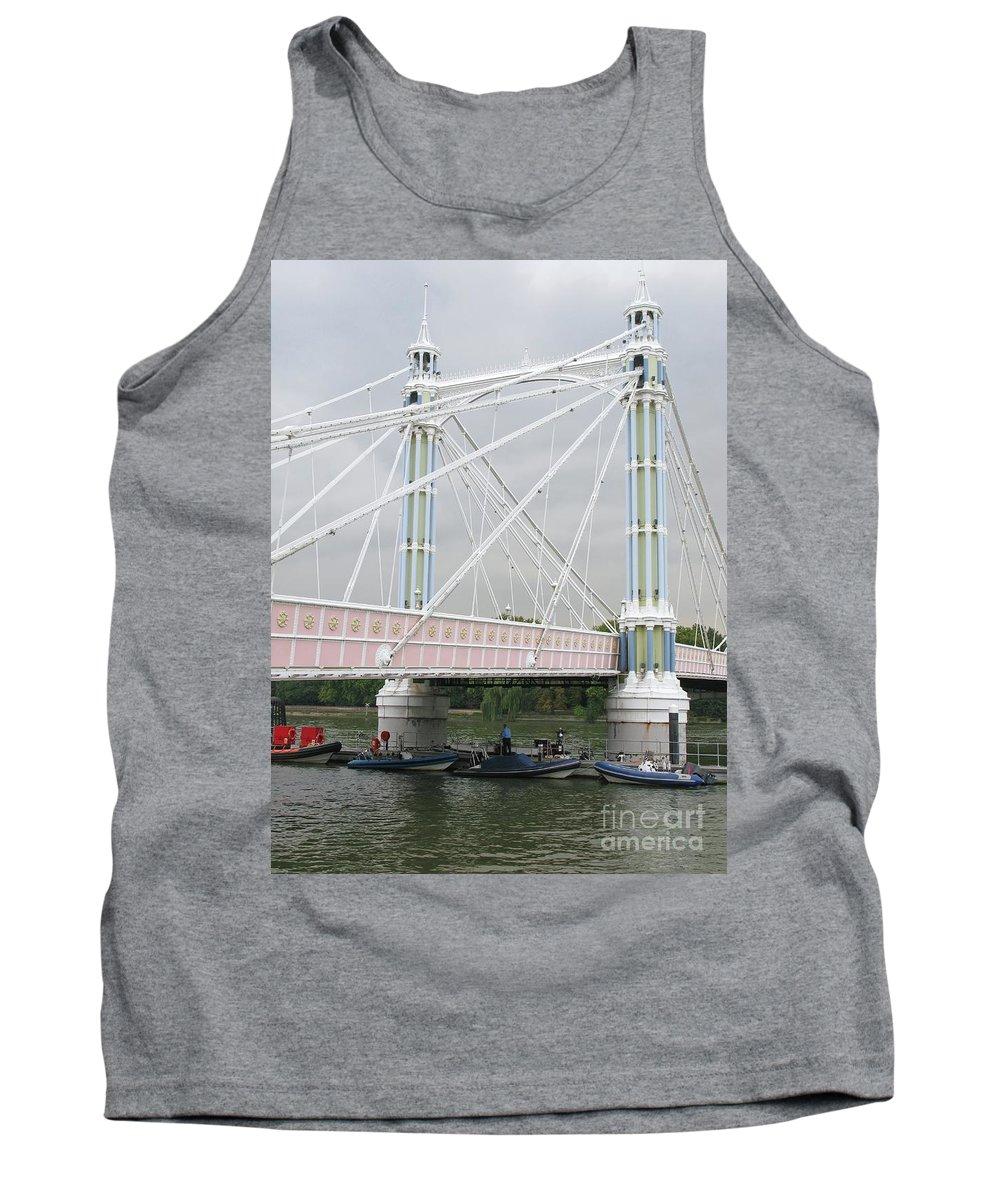London Tank Top featuring the photograph Albert Bridge by Ann Horn