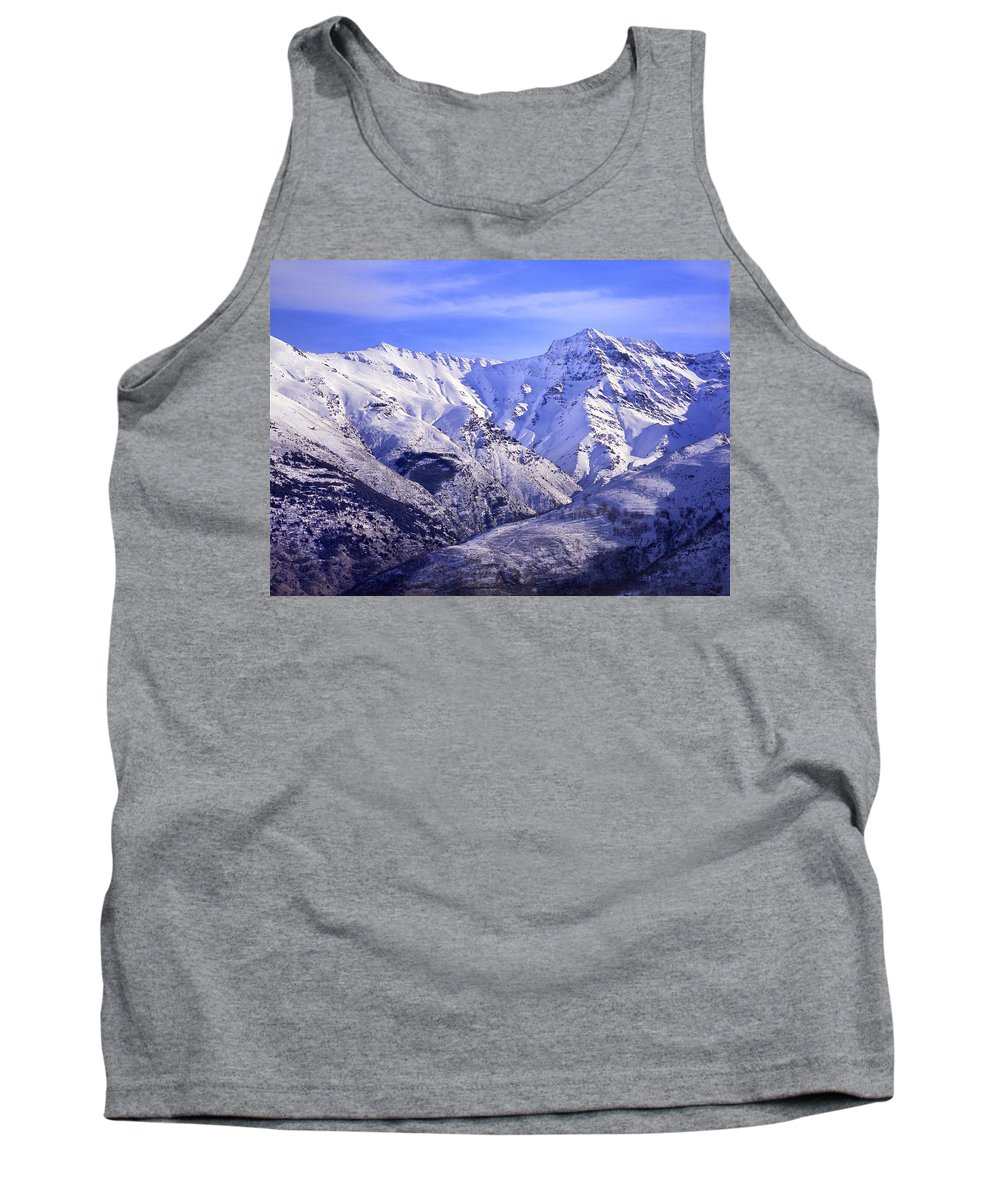 Aerial Tank Top featuring the photograph Alcazaba 3315 Meters And Vacares by Guido Montanes Castillo