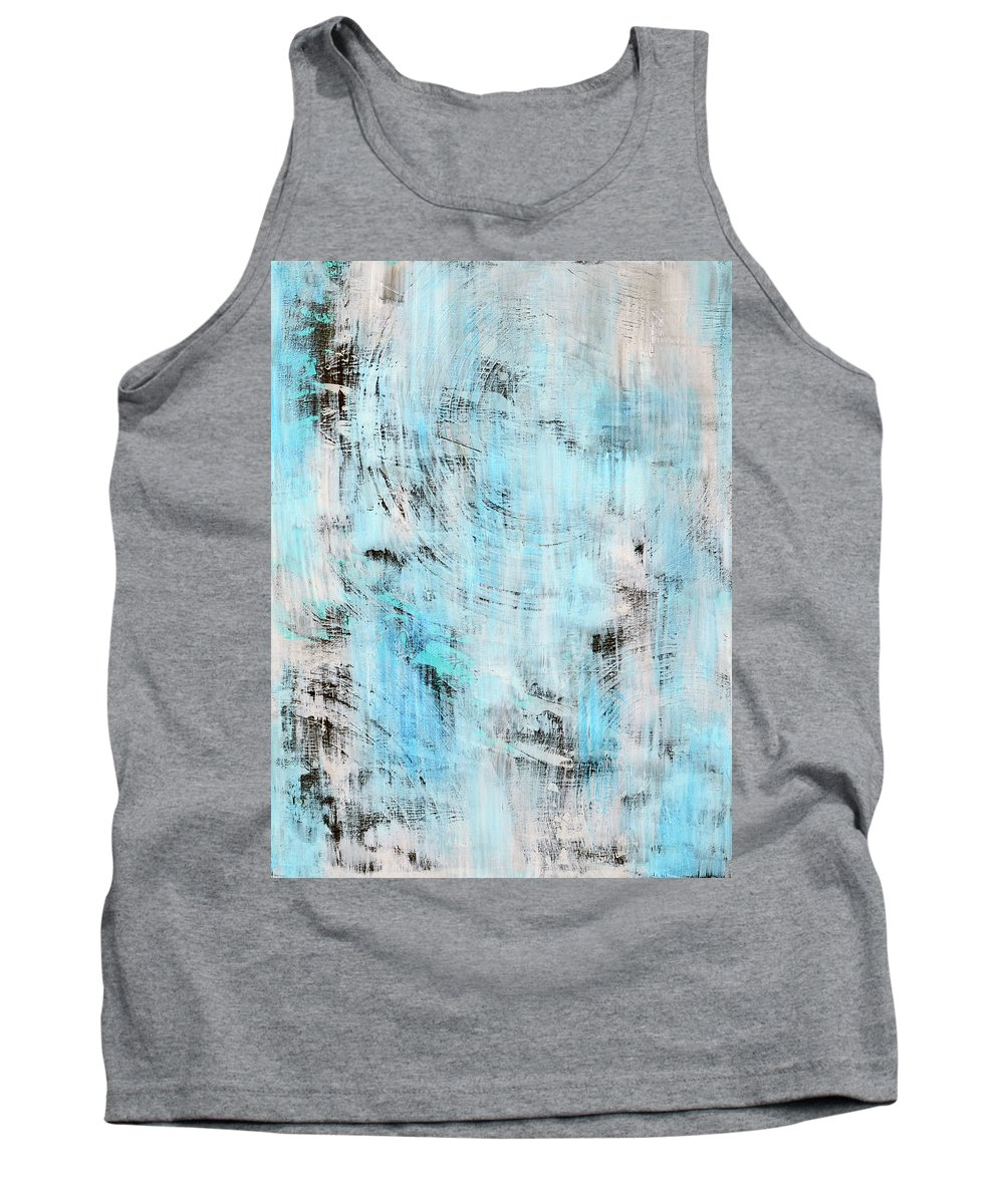 Blue Tank Top featuring the painting All About Blue by Robin Jorgensen