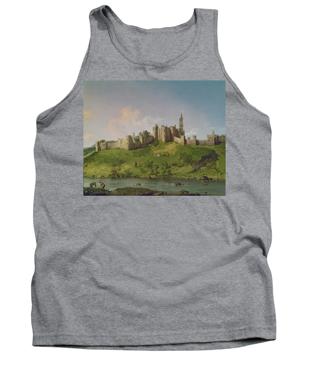 Alnwick Tank Top featuring the painting Alnwick Castle by Canaletto