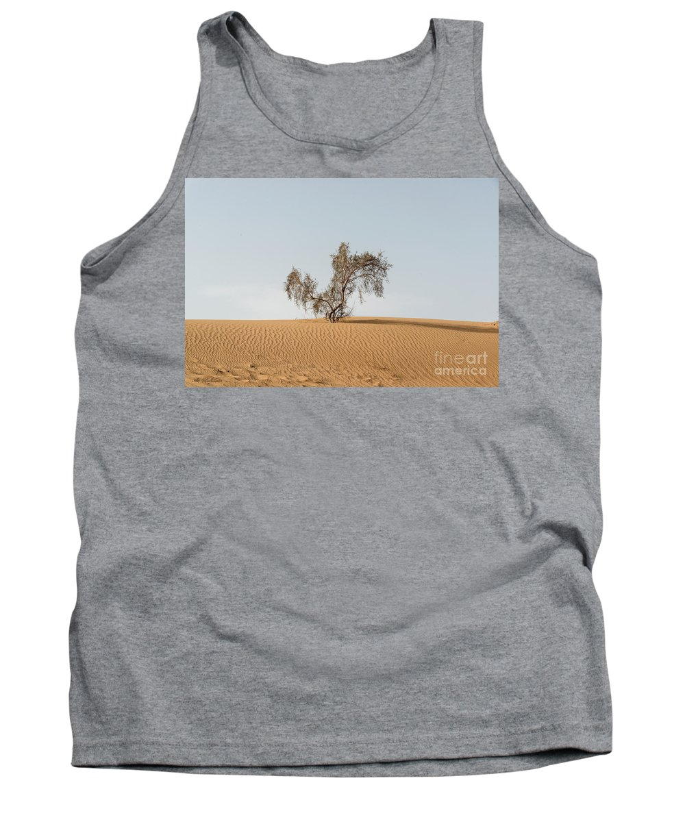 Sand Tank Top featuring the photograph Alone by Arik Baltinester