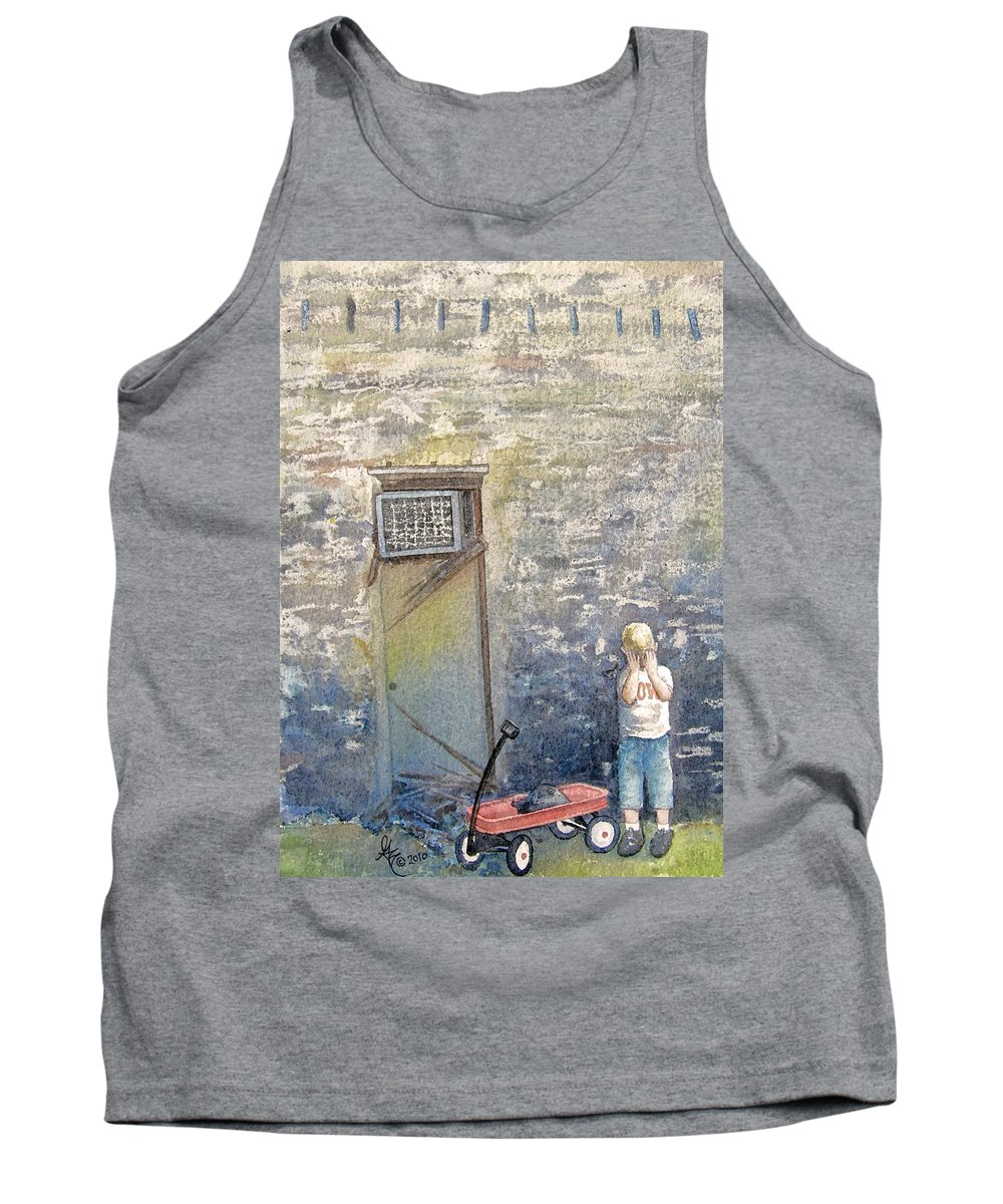 Child Tank Top featuring the painting Alone by Gale Cochran-Smith