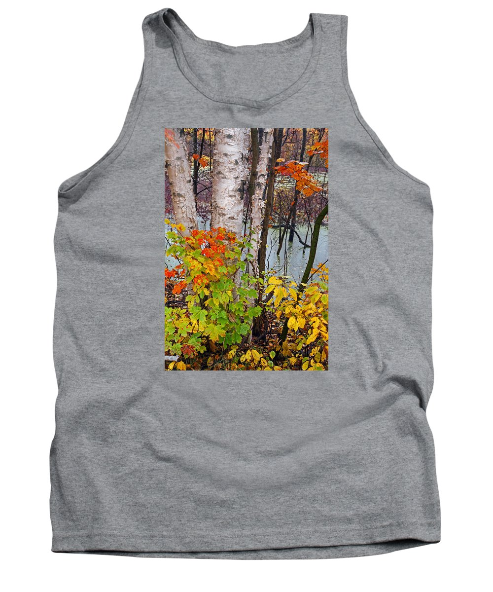Along The Breezeway In Autumn 2014 Tank Top featuring the photograph Along The Breezeway In Autumn 2014 by James Rasmusson