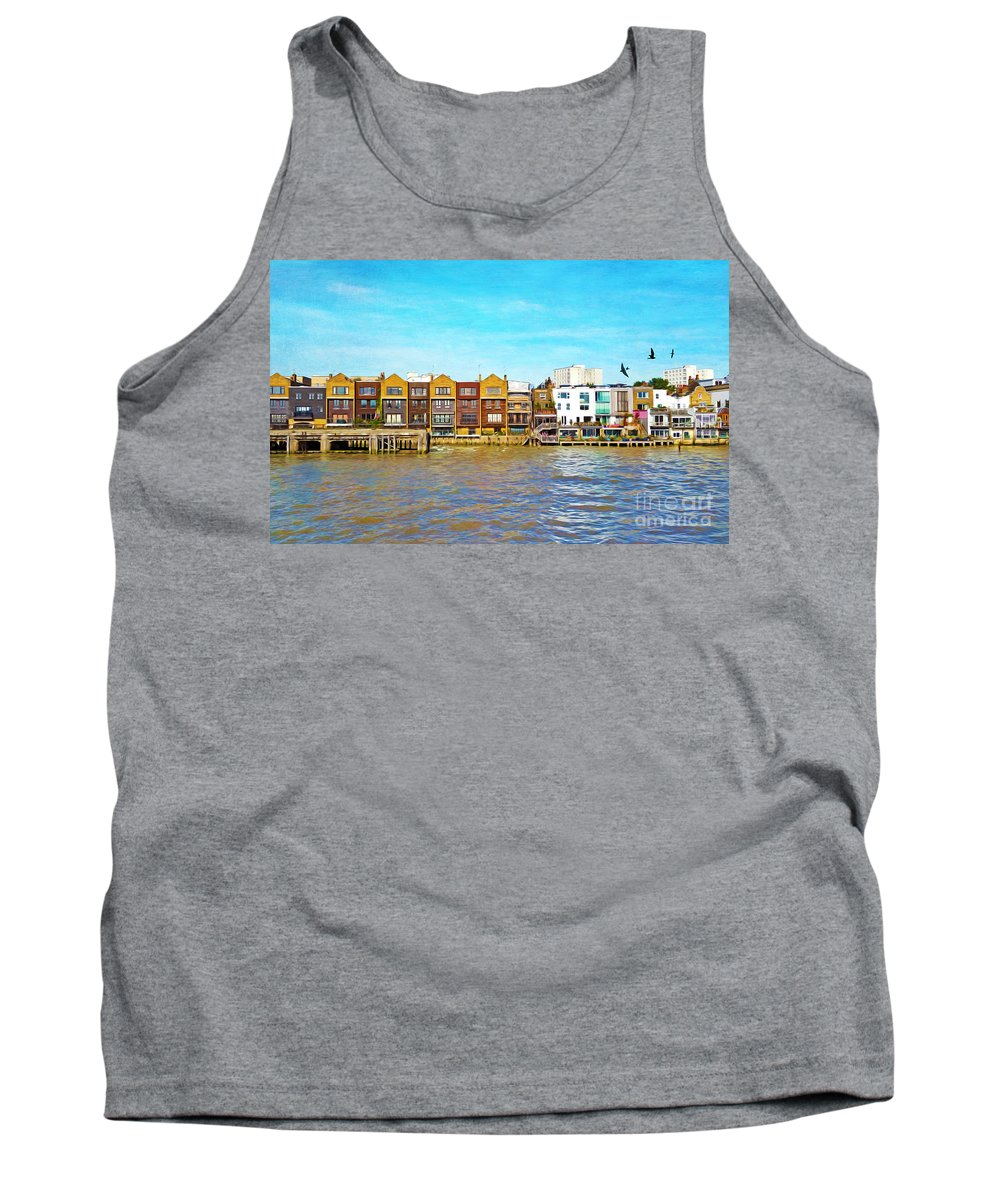 London Tank Top featuring the photograph Along The River Thames by Laura D Young