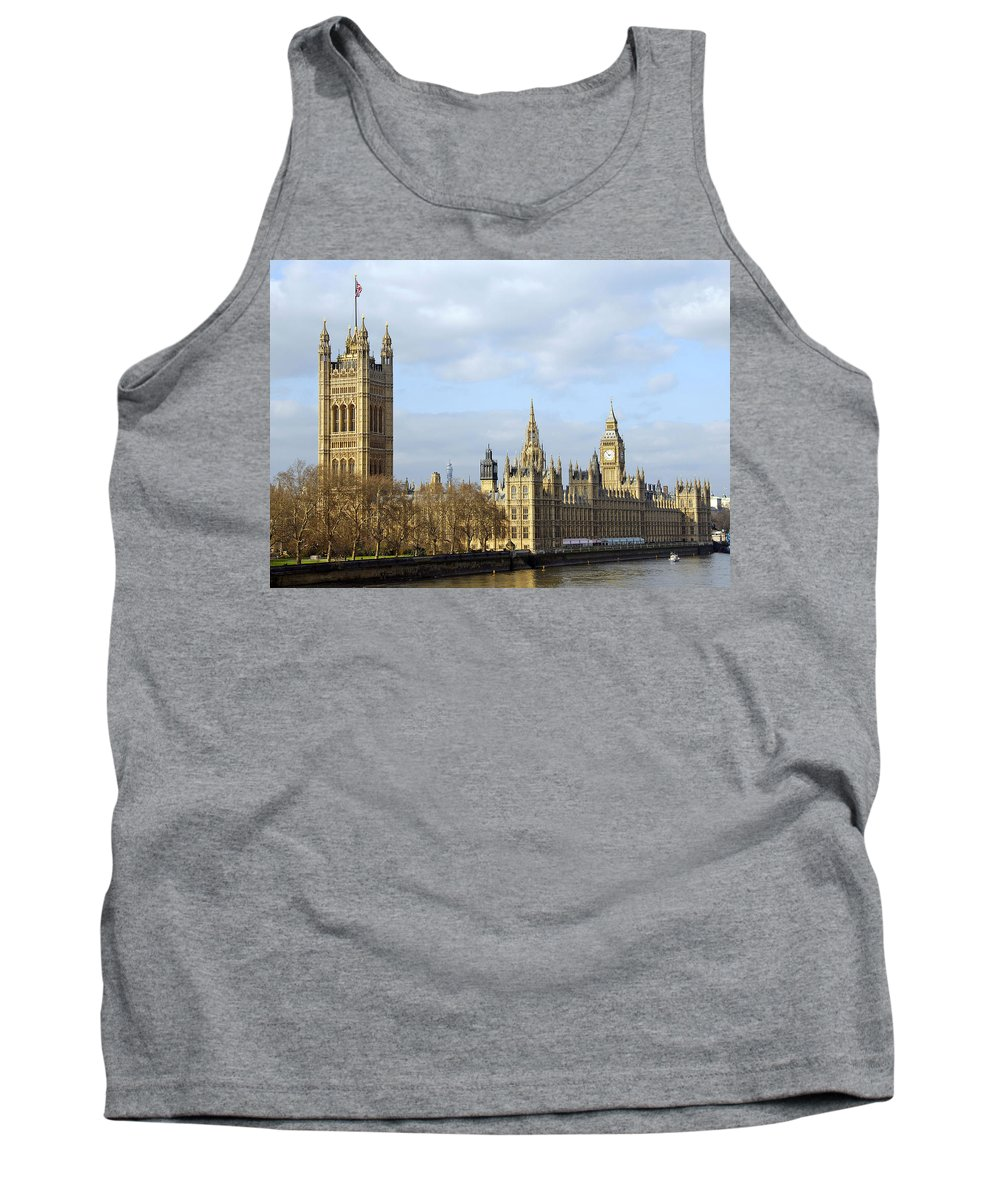 London Tank Top featuring the photograph Along The Thames by Stephen Anderson