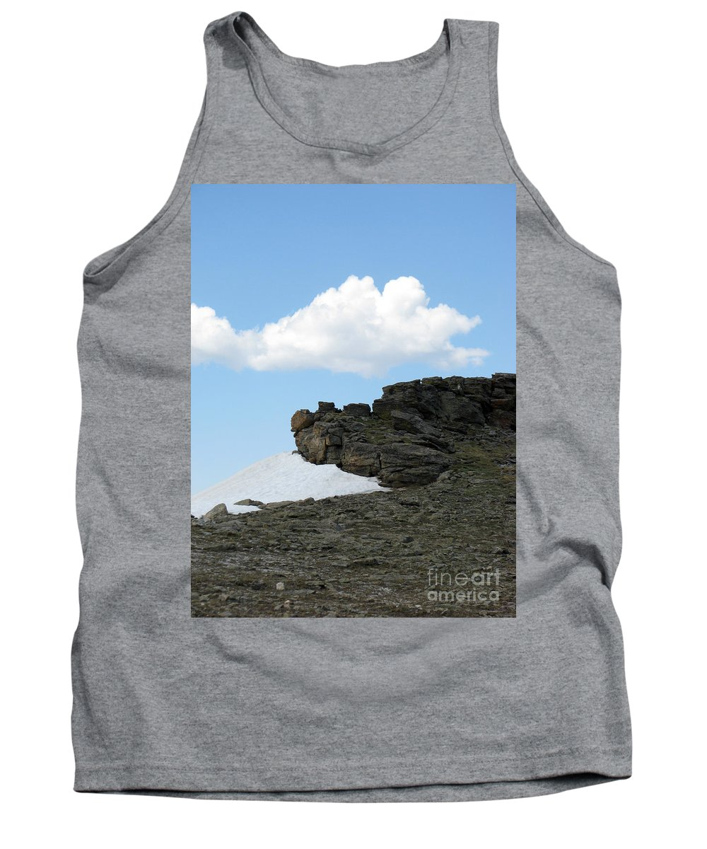 Rocky Mountains Tank Top featuring the photograph Alpine Tundra - Up In The Clouds by Amanda Barcon