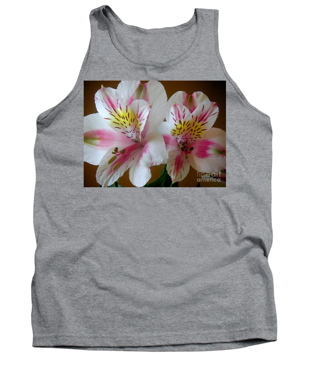 Nature Tank Top featuring the photograph Alstroemerias - Heralding by Lucyna A M Green