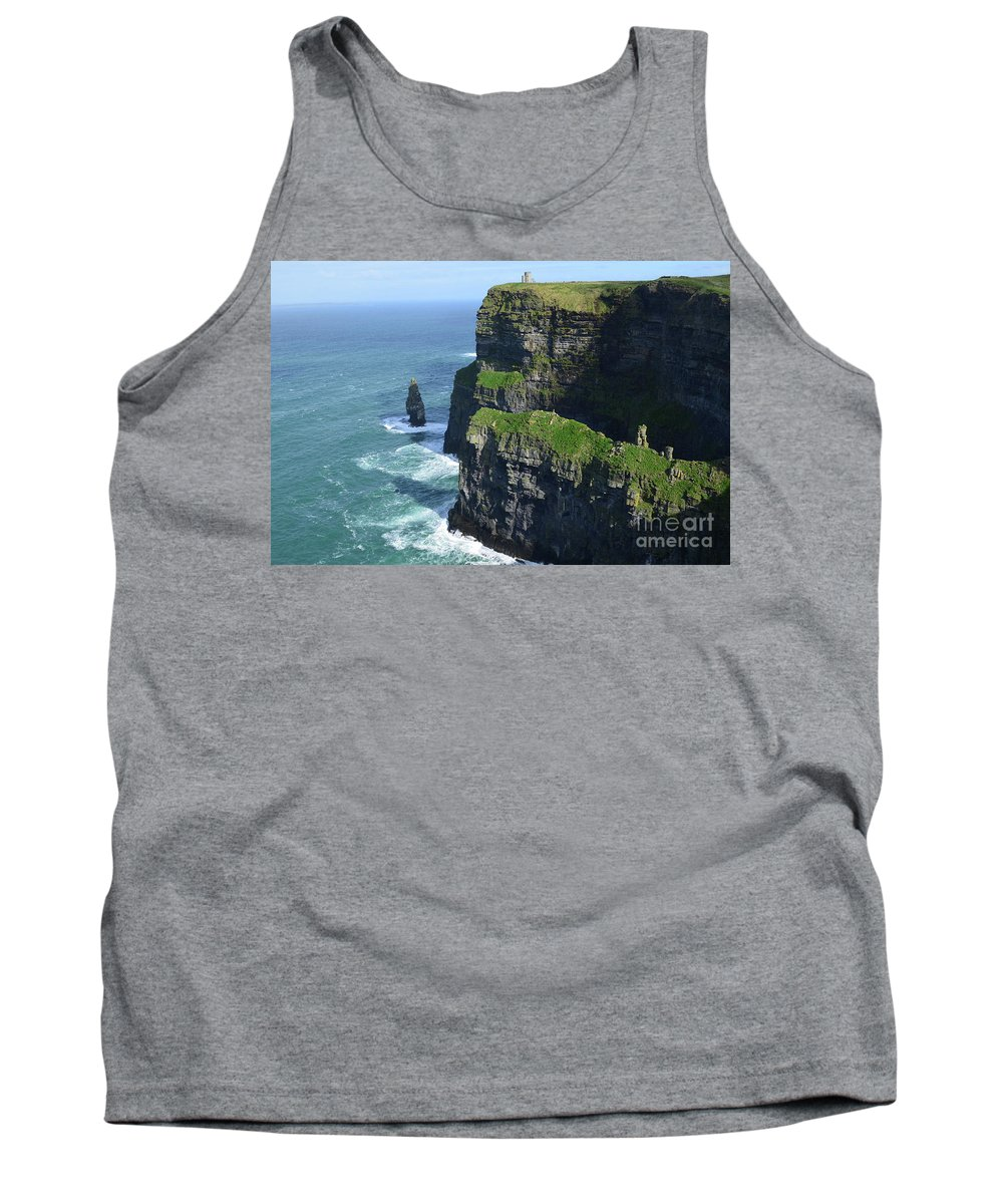 Needle Tank Top featuring the photograph Amazing Look At The Sea Cliff's Of Moher In Ireland by DejaVu Designs