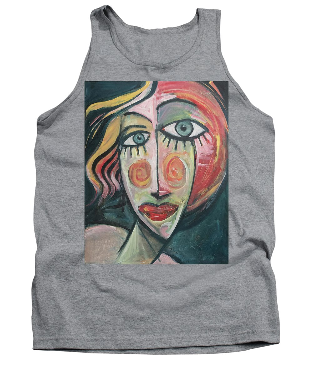 Woman Tank Top featuring the painting Amber by Tim Nyberg