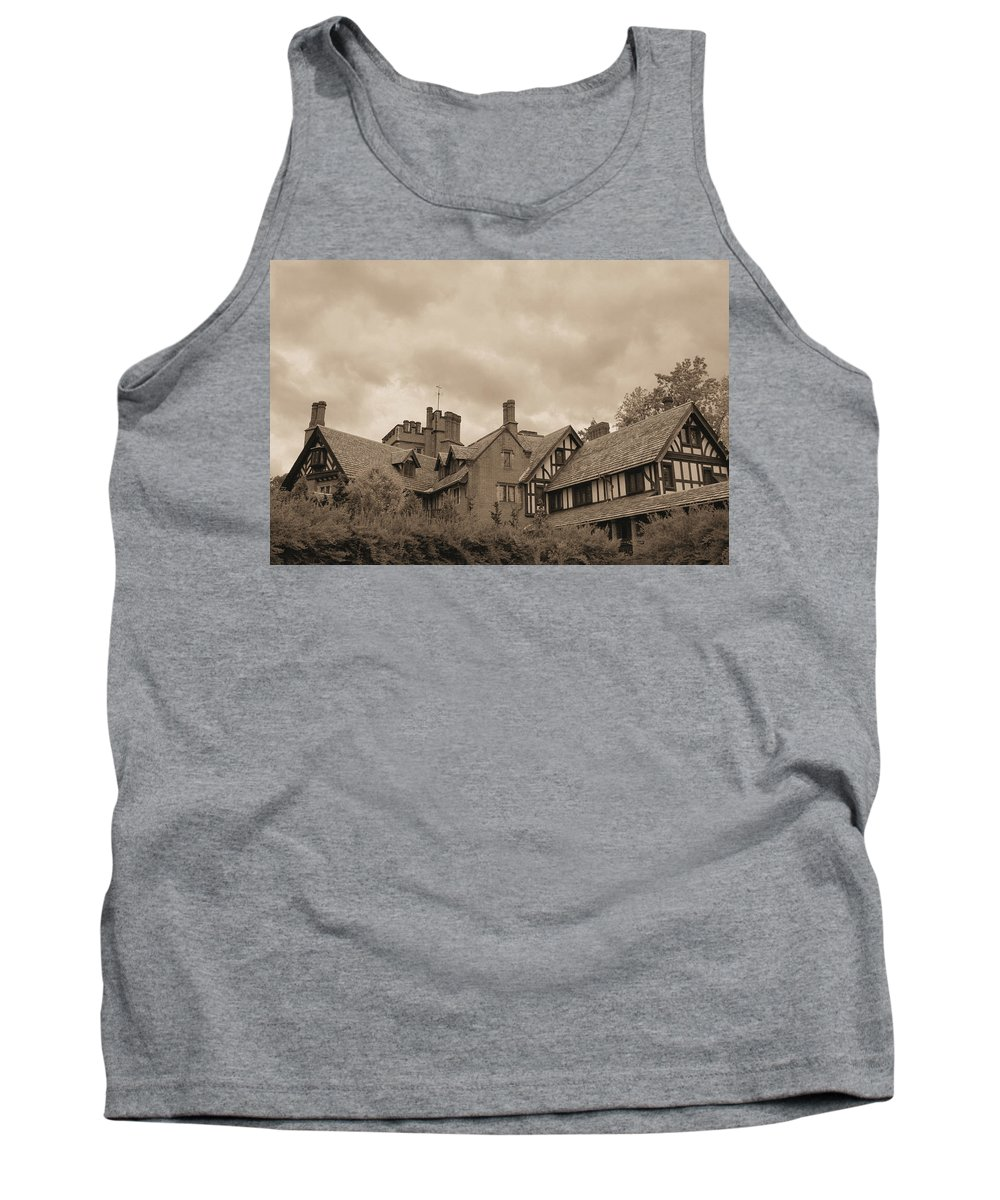 Stan Hywet Tank Top featuring the photograph American Castle by Kristin Elmquist