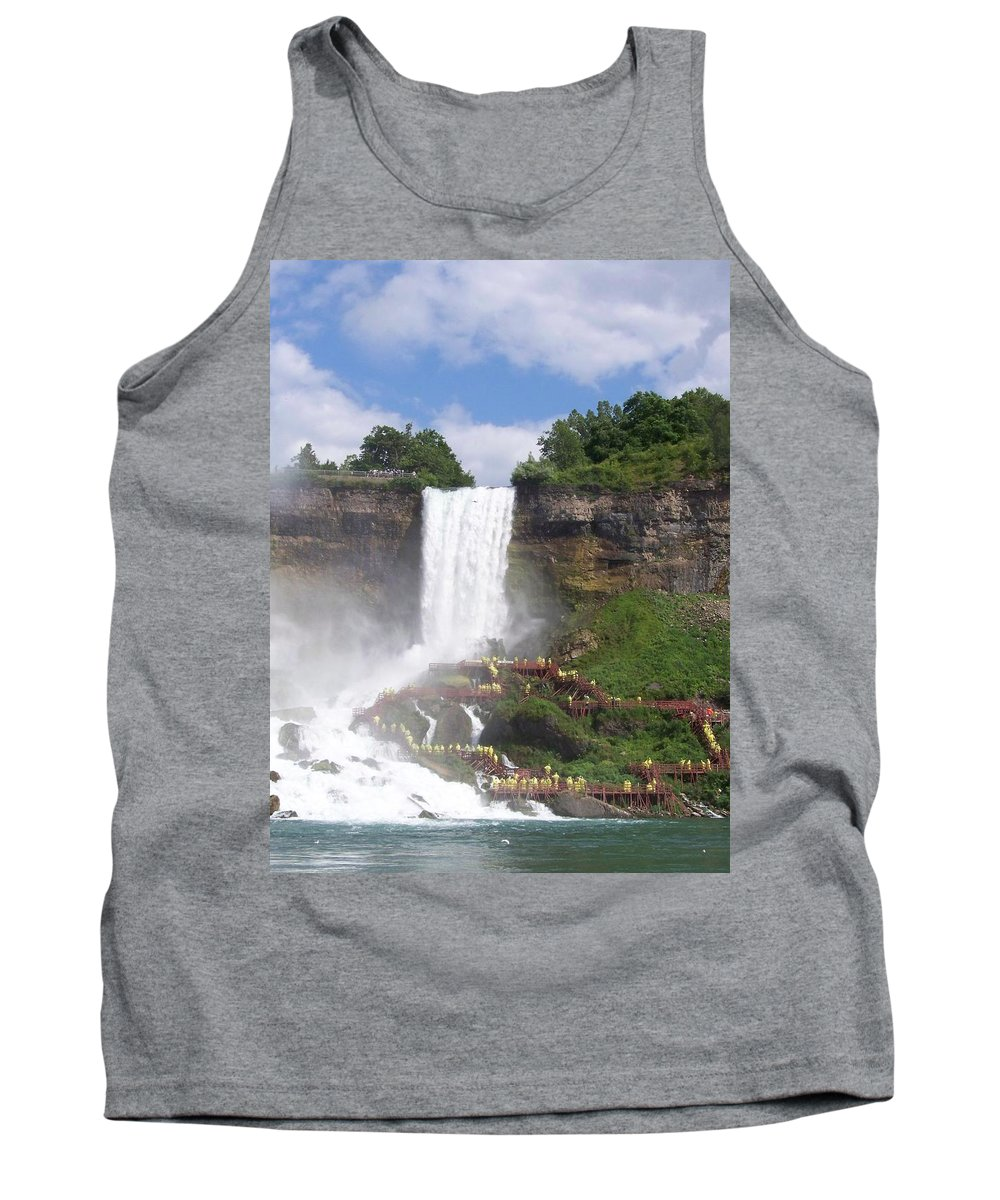 Niagra Falls Tank Top featuring the photograph American Falls At Niagra by Laurie Paci