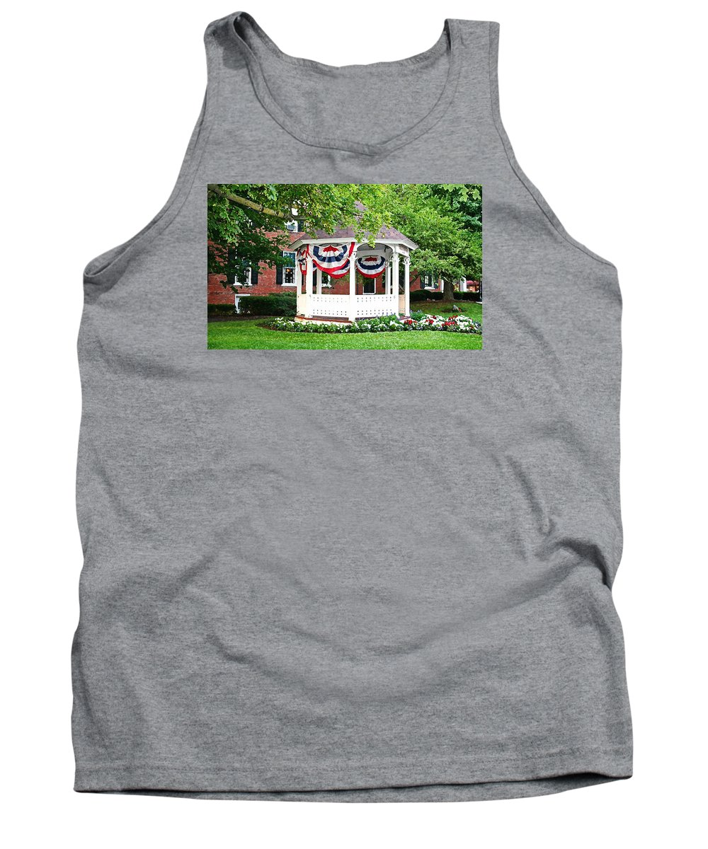 Gazebo Tank Top featuring the photograph American Gazebo by Margie Wildblood