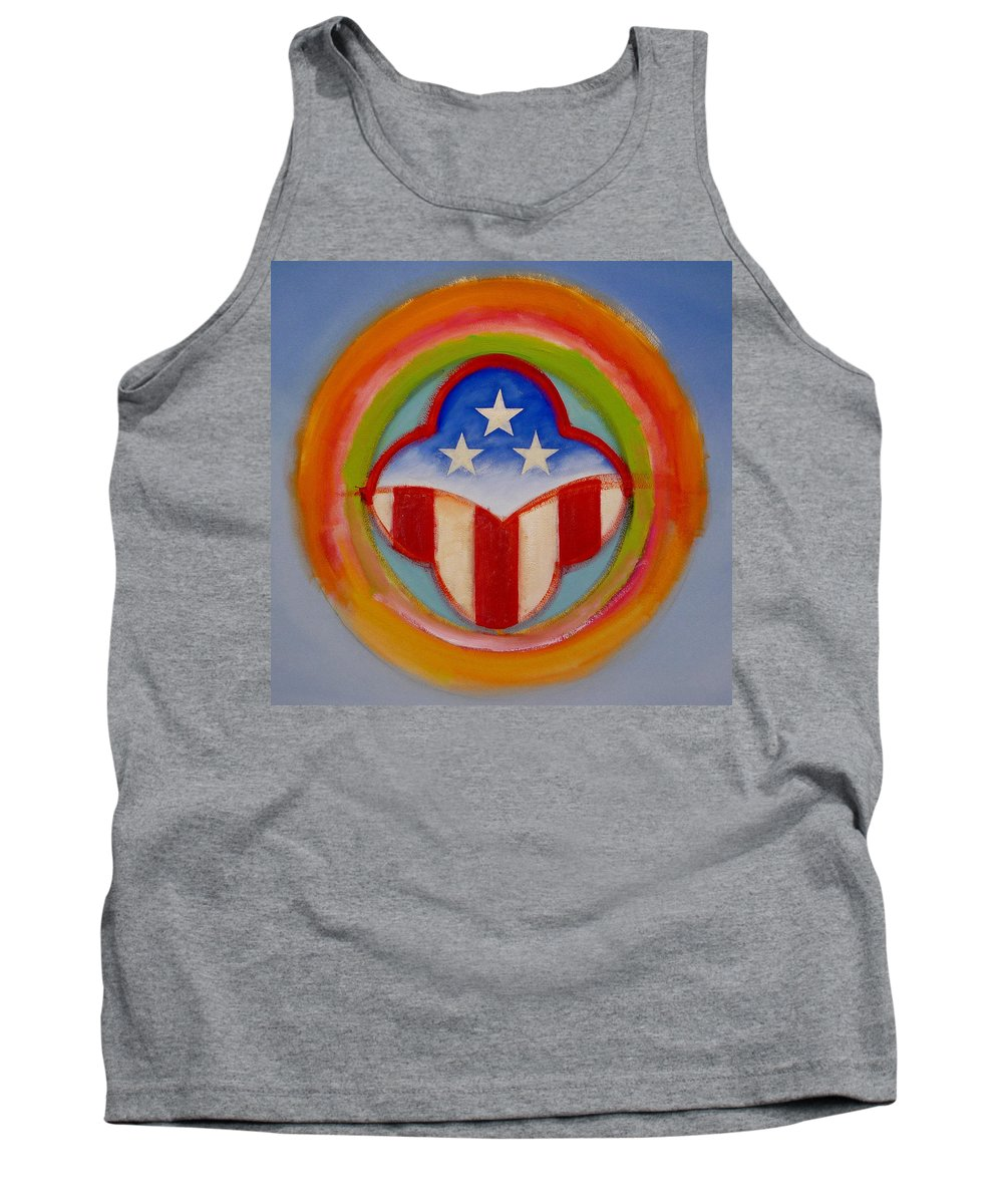 Logo Tank Top featuring the painting American Three Star Landscape by Charles Stuart