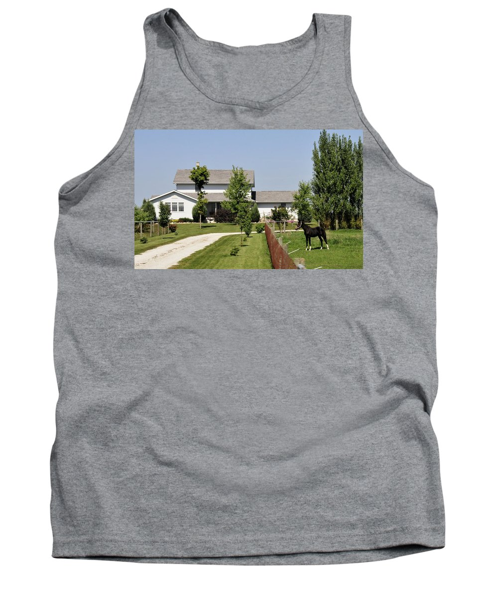 Amish Tank Top featuring the photograph Amish House by David Arment