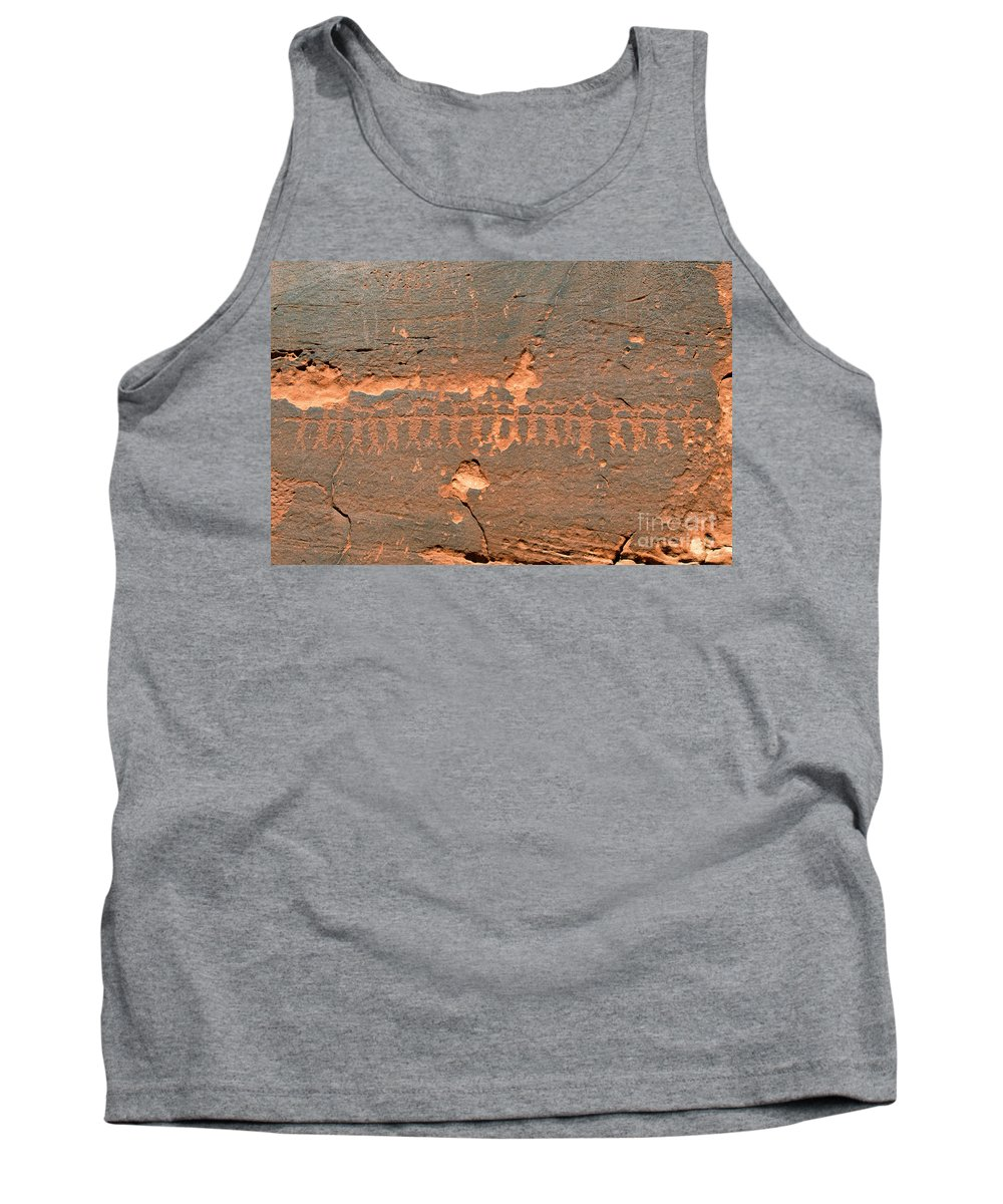 Anasazi Tank Top featuring the photograph Anasazi Dancers by David Lee Thompson