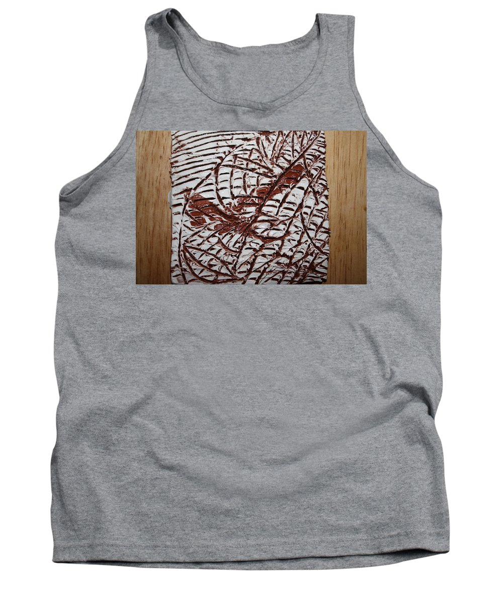 Jesus Tank Top featuring the ceramic art Ancient Dreams - Tile by Gloria Ssali