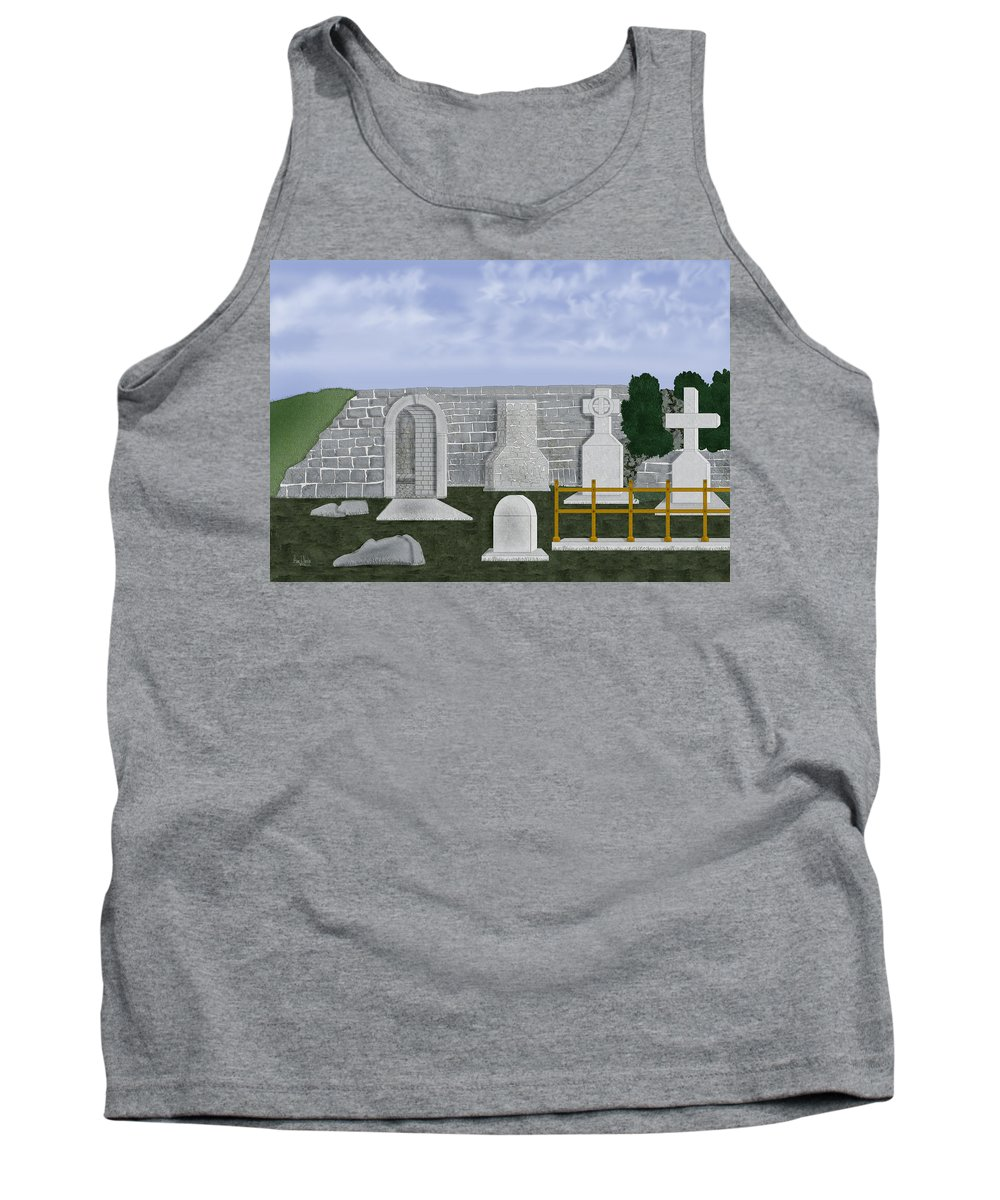Ireland Tank Top featuring the painting Ancient Irish Stones Image 9577 The Beverlee Chronicles by Anne Norskog