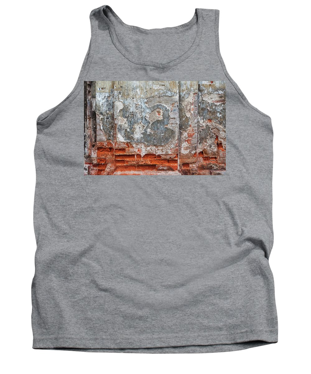 Texture Tank Top featuring the photograph Ancient Wall. by Izabella Zubkova