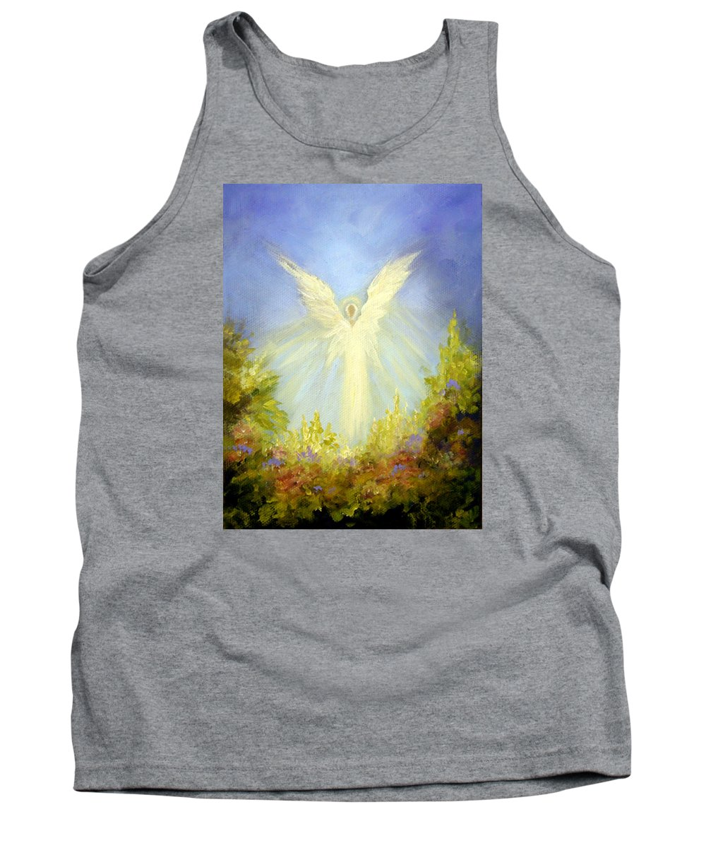 Angel Tank Top featuring the painting Angel's Garden by Marina Petro