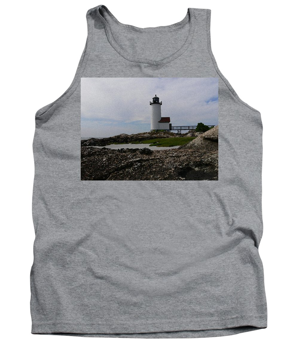 New England Lighthouse Tank Top featuring the photograph Annisquam Lighthouse by Nancie DeMellia