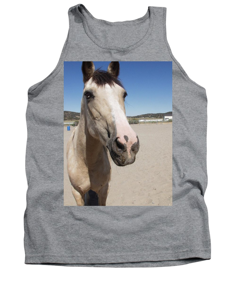Horses Tank Top featuring the photograph Any Carrots by Jamey Balester