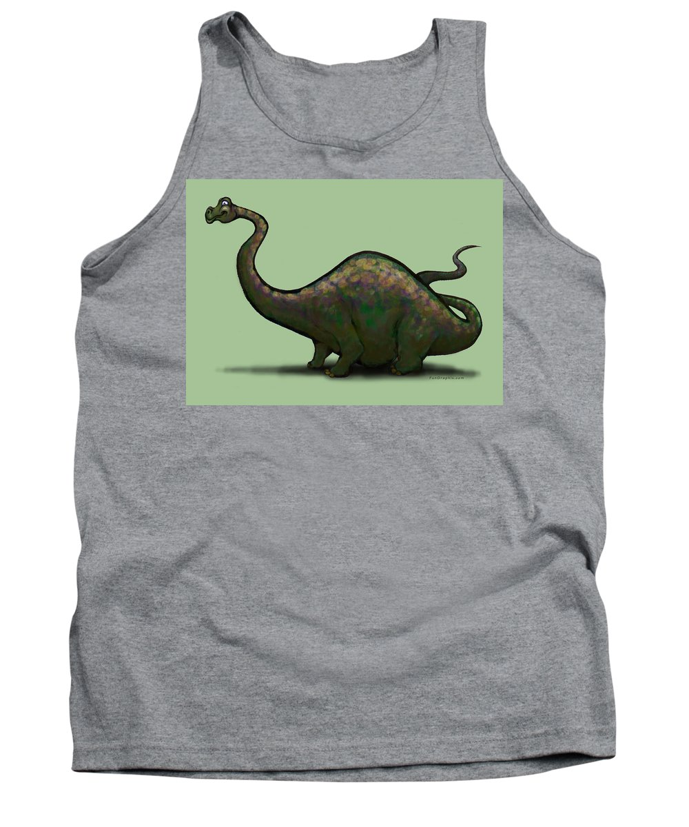 Apatosaurus Tank Top featuring the greeting card Apatosaurus by Kevin Middleton